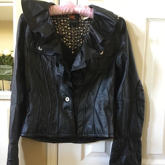 Parasuco Jackets & Blazers - Black leather bling bling  jacket